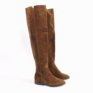 Ash | Jess Suede Over the Knee Flat Boots